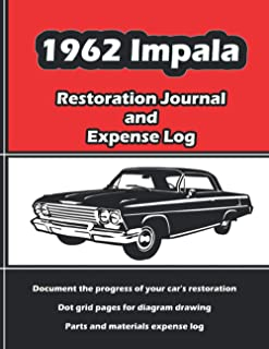 1962 Impala - Restoration Journal & Expense Log: Vintage car restorers and collectors love documentation. Keep accurate, i...