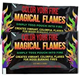 Magical Flames Create Colorful & Vibrant Flames for Fire Pit - (25 Pack) - Campfire, Bonfire, Outdoor Fireplace – Magical, Colorful, Rainbow, Mystic Flames – Twice the Color – Half the Price
