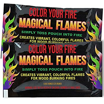 Magical Flames Create Colorful & Vibrant Flames for Fire Pit -  25 Pack  - Campfire Bonfire Outdoor Fireplace – Magical Colorful Rainbow Mystic Flames – Twice the Color – Half the Price