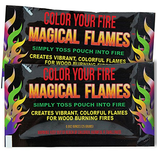 Amazing Deal Magical Flames 25-Pack: Twice The Color, Half The Price! Creates Vibrant, Rainbow Color...