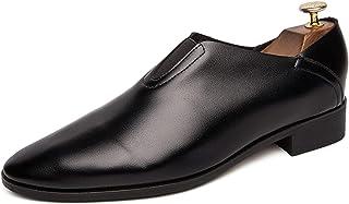 Zapatos casuales Zapatos de vestir para hombres, elegantes mocasines clásicos de remiendo clásicos con cuero elástico de i...