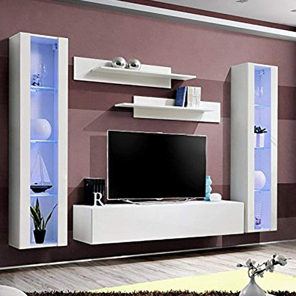 Villasenor Floating Entertainment Center For Tvs Up To 88 Home Audio Theater
