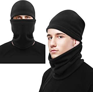 CLISPEED Winter Balaclava Windproof Ski Face Mask Cold Weather Thermal Neck Gaiter for Men Women