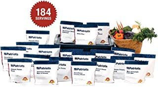 4Patriots: Emergency Food Supply - 4-Week Survival Kit - Freeze Dried Food - 25-Year Shelf Life - 184 Servings