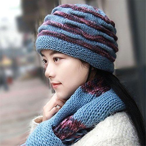 BTBTAV dameshoed voor dames in de winter, met twee oortjes voor pak, gebreide muts, elastisch, hoge elasticiteit