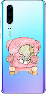 Oihxse Beschermhoes voor Huawei P8 Lite 2017, [schattig, transparant, olifant, haas, motief serie] Beschermhoes gemaakt va...