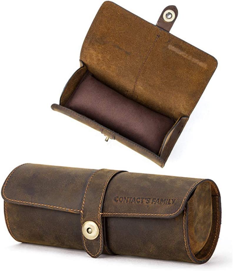 Travel Watch Organizer Genuine Leather Watc Case Protective Roll trust Max 80% OFF