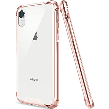 EGOTUDE Case for iPhone XR (Hard TPU, PC, Silicone Rose Gold)