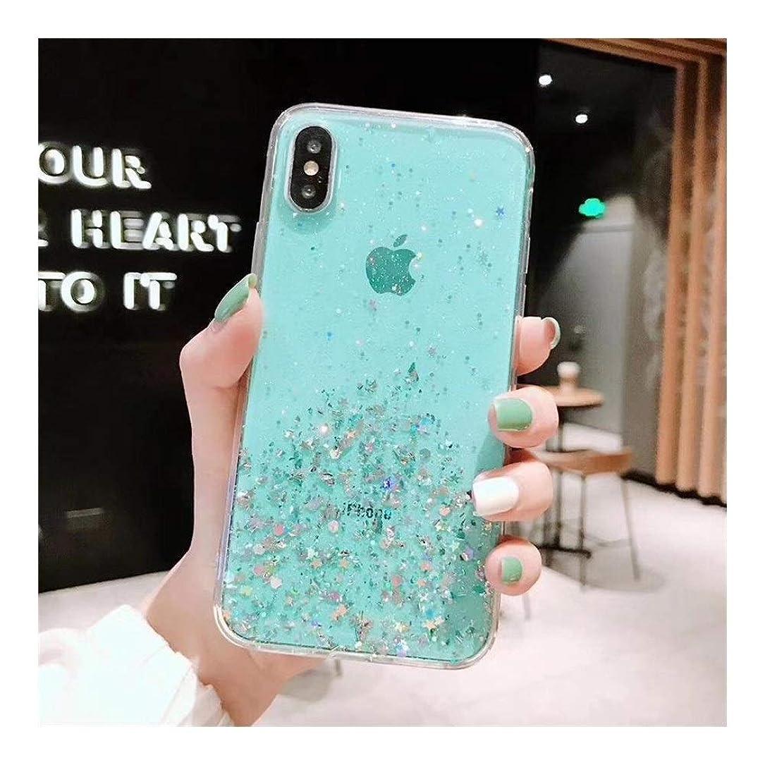誕生日雄弁家十二FUKUAKON スマホケース For Iphone 11 Pro MAS 8 7 XS X 8P 7P 6p 6s カバー 携帯ケース スマートホンケース 携帯保護 透明 透明カバー ピンク 銀箔 (Color : 緑, Size : Iphone6/6S)
