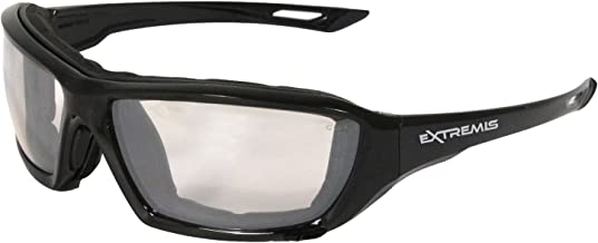 Radians XT1-91 Extremis Full Black Frame Safety Glasses with Indoor/Outdoor Anti-Fog Lens