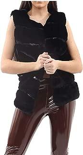 Rimi Hanger Womens Sleeveless Faux Fur Gilet Jacket Ladies Winter Wear Warm Outwear Waistcoat