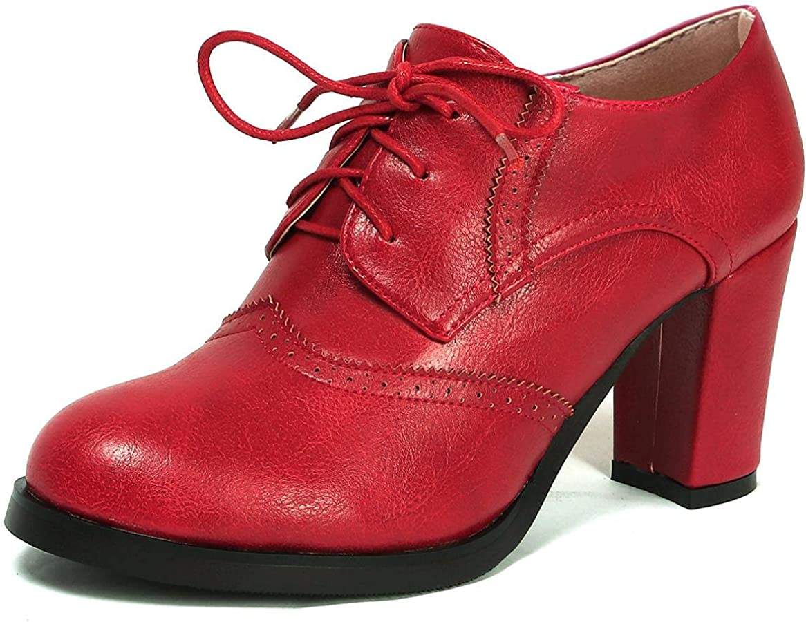 Memphis Mall Odema Womens PU Super Special SALE held Leather Oxfords Brogue Up Dress Wingtip Sho Lace