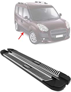 OMAC Aluminum Running Boards Nerf Bars 2 Pcs.   Fits Ram Promaster City 2015-2021 Side Step Bar Rail Replacement Part   Ca...