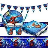 Gxhong Decoration Anniversaire Spiderman,52pcs Vaisselle de...