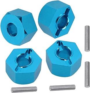 Aluminum Front & Rear Wheel Hubs Hex 12mm Upgrade 1654 for 1/10 Traxxas Slash Stampede Ruslter (Blue)