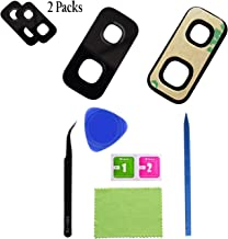 Eaglewireless [2 Pack] Camera Glass Lens Replacement Kits with Pre-Cut Adhesive for Samsung Galaxy S9 Plus+ 1 Set DIY Tools
