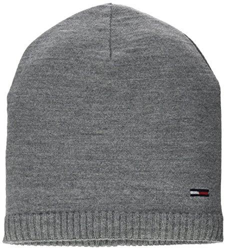 Tommy Jeans Damen BASIC KNIT BEANIE Knit Grau (Grey Melange? Grey Melange 091) One size (Herstellergröße: OS)
