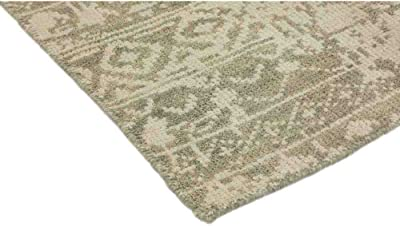 """Solo Rugs Modern Hand Knotted Area Rug, 6' 1"""" x 9' 1"""", Beige"""