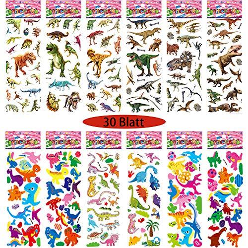3D Puffy Stickers,Pegatinas de Dinosaurios,Pegatinas de Recompensa para Niños,Tatuajes de Dinosaurios,Stickers Infantiles Animales,Pegatinas de Dinosaurios Infantiles