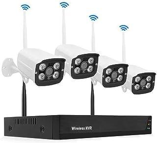 4 كاميرات لاسلكية مراقبة عدة، 1080P HD شبكة Android WIFI مسجل فيديو, كاميرا من البيت للماء