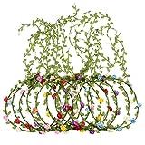 10 Pezzi Corona di Fiore Multicolore Ghirlanda Floreale Fasce Floreale per Festival Matrimonio Festa