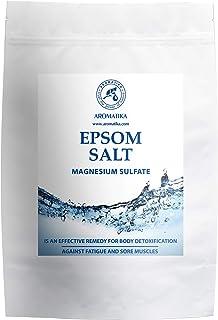 Sales de Baño 1kg - Sal de Epsom 1000g - 100% Pura & Natural - Fuente Concentrada de Magnesio - Relajación & Recuperación Muscular - Desintoxicación - Cuidado del Cuerpo - Cura - Mejor Buen Sueño