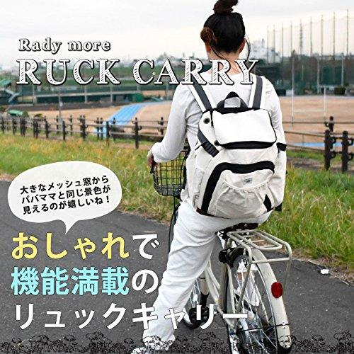 リュックキャリーバッグリュック型リュックお出かけ抱っこ旅行Mブラック(14)