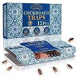 Kimimara Cucaracha Trampas, 12 Pcs Trampas para cucarachas con Cebo Incluido, para el Control de Plagas en el Hogar Cucarachas