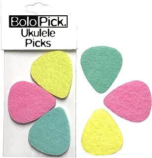 BoloPick Felt Picks for Ukulele 6 Pack (Pink Lemonade)