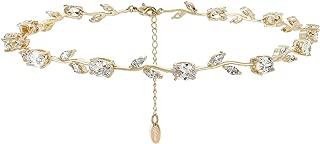Nikita By Niki Rose Flower Statement Crystal Rhinestone Choker Necklace for Women