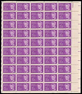 USPS Eleanor Roosevelt Sheet of 50 x 5 Cent Stamps Scott 1236