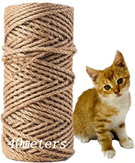 MEISHANG Seil für Katzenbaum,Natural Sisal Seil,Katzen Natürlich Sisal Seil,Katzen Zubehör Kratzbaum,Seil für Kratzbaum,Natürliches Sisalseil,Sisalseil für Kratzbaum