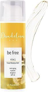 Dandelion Sun, Anti-Aging Face Moisturizer with Broad Spectrum SPF 30, Facial Sunscreen, Antioxidant-Rich C...