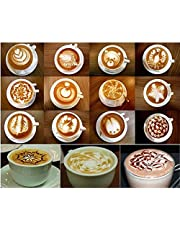 Cappuccino Coffee Barista Fashion Stencils Template Pad
