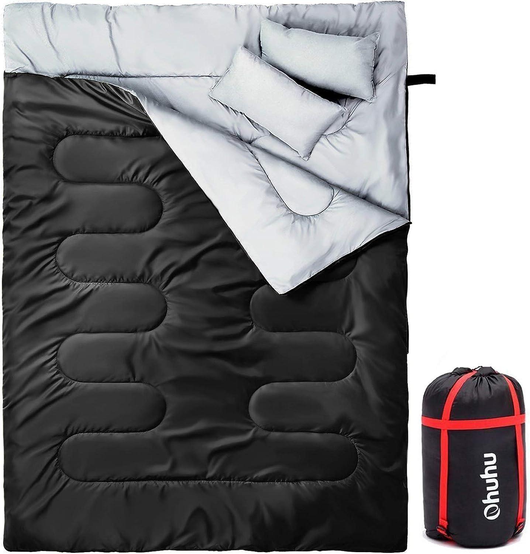 Ohuhu Schlafsack für 2 Personen Groß Doppelte Schlafsack Schlafsack Schlafsack 218 x 150cm Erwachsene Winter Schlafsack B07KRTN6CK  Direktgeschäft 156b86