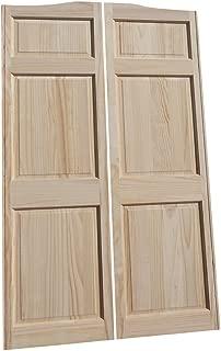 Cafe Doors by Cafe Doors Emporium   Full Height Pine Raised 6 Panel Cafe Door   Parlor Butler Door   Premade for 28