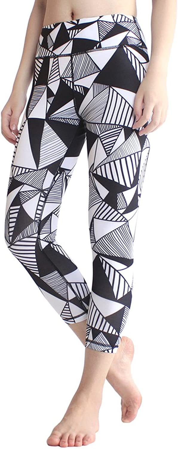 High Waist Yoga Pants Pockets,Tummy Control Workout Running 4 Way Stretch Yoga Leggings Women Girls
