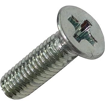 Aerzetix 100 Schrauben Senkkopfschrauben M2x5mm DIN965A verzinkter Stahl Fu/ßabdrucks Phillips PH1 C18178