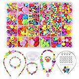 Funkprofi - Juego de cuentas para enhebrar, joyas para niños, pulseras, collares, manualidades, joyas de perlas para niñas, niños
