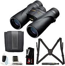 Nikon 7576 Monarch 5 8x42 Waterproof/Fogproof Roof Prism Binoculars Bundle with Nikon Lens Pen & Essential Accessories (5 Items)