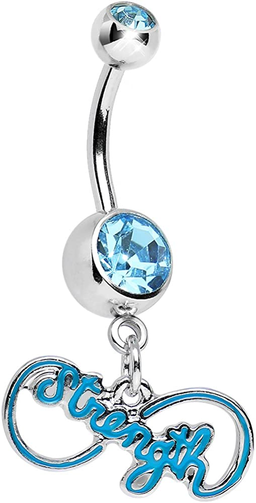 Body Candy Brilliant Blue Infinite Daily bargain sale Ring Belly Special Campaign Strength Dangle
