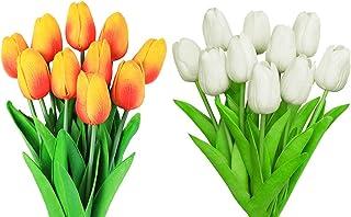 NAHUAA 6 Piezas Flores Artificiales de Lirio de Flores Plantas de Flores Falsas Multicolores Jard/ín Interior al Aire Libre Hogar Cocina Oficina Mesa Centros de Mesa Arreglos Decoraci/ón