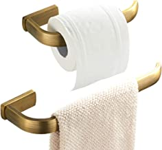 Flybath 4pc Bathroom Accessories Set- 57 cm / 22.44 inches Single Towel Bar,Towel Ring, Toilet Paper Holder, Coat Hook, Br...
