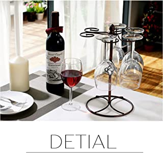 Classic Elegant Metal Tabletop 6 Wine Glass Display Holder Drying Rack Stand/Storage Rack