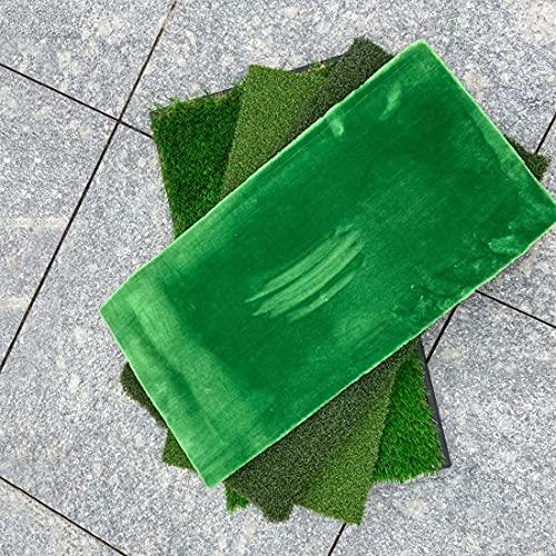 CWBB Golf Putting Matte,Golf Schlagmatte, Golf Puttingmatte, Robuste Gummi-Basis mit grün 4 Farben langes und kurzes Gras 33x63cm Rasen-Übungsmatte,Golf Driving Range Matte,