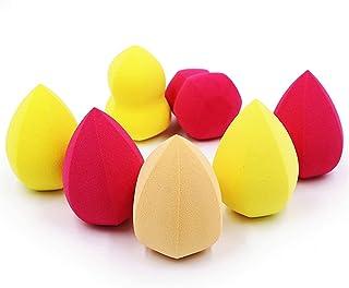 YSJJUSZ Makijaż jajko makijaż gąbka korektor gładki podkład kosmetyk puder puder kształt podkład kropla wody tykwa skośny ...