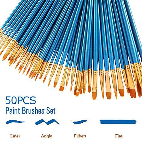 Set de Pintura de Acuarela de acrílico Rcol para Pintura al óleo, 50 Unidades, para Dibujar y Pintar