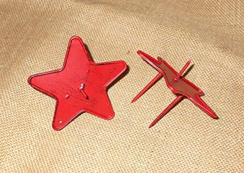 Kerzenhalter 'Stern' aus Metall rot 2er-Set