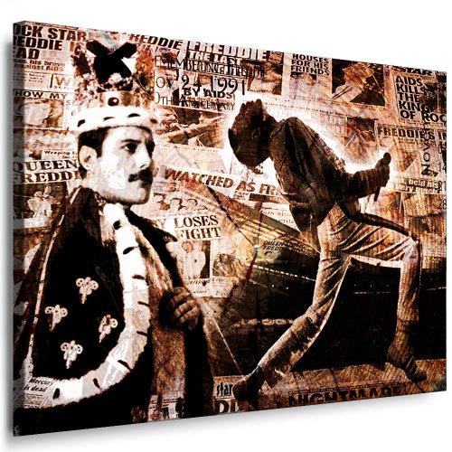 fotoleinwand24 - Quadro da parete 'Freddie Mercury' 'Queen' già montato su telaio ! Pittura pop art, stampe artistiche da parete – Immagini decorative – Stampa artistiche musicali