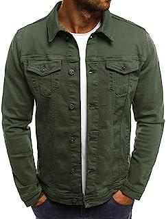 : Veste en jean Vert : Vêtements